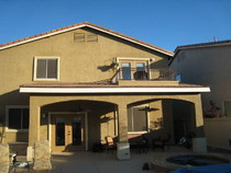 Charmant Patio Cover With Balcony Completed @ North Las Vegas, NV.